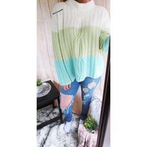 Vintage spring dreamin' pastel plush sweater 🌸